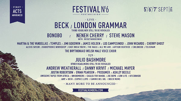Festival number 6 portmeirion lineup
