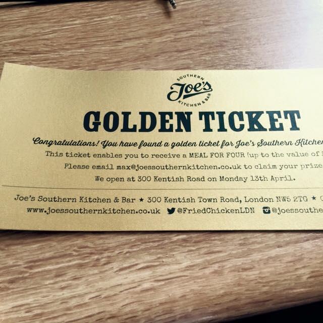 Joe S Southern Kitchen Bar: WIN: GOLDEN TICKETS AT JOE'S SOUTHERN KITCHEN & BAR