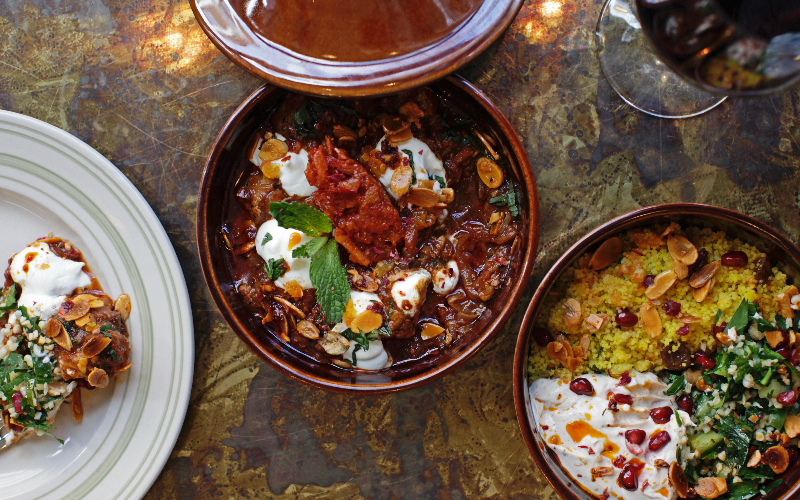 lamb-tagine-with-apricot-almonds-and-lebna-and-saffron-couscous