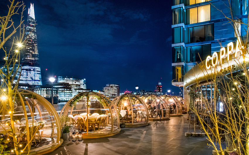 The igloos are back at coppa club social london on the for Romantic things to do in nyc winter