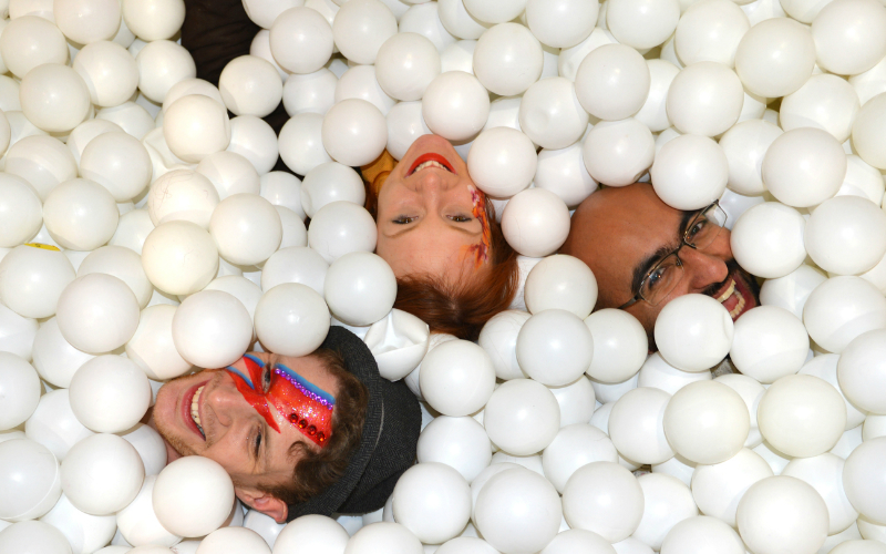 GIANT BALL PIT <br> COMING TO SHOREDITCH