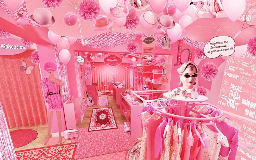 all pink charity shop
