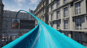 giant waterslide at topshop