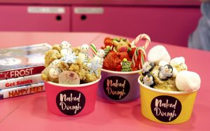 free festive cookie dough <br> from naked dough