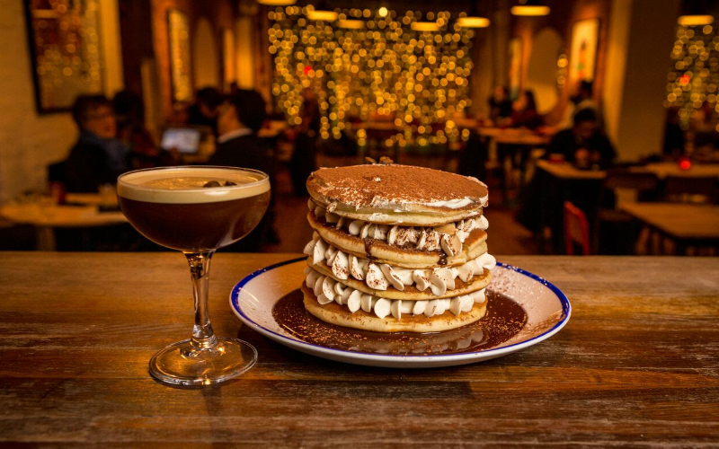 espresso martini pancakes | london on the inside