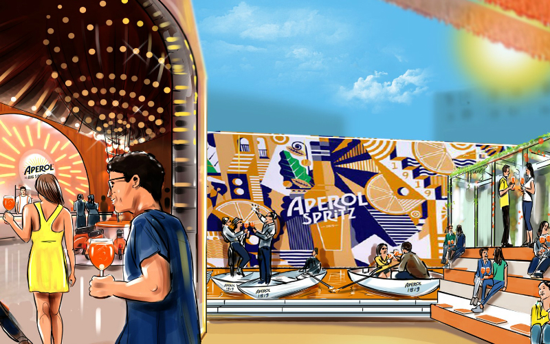 aperol big spritz social | london on the inside
