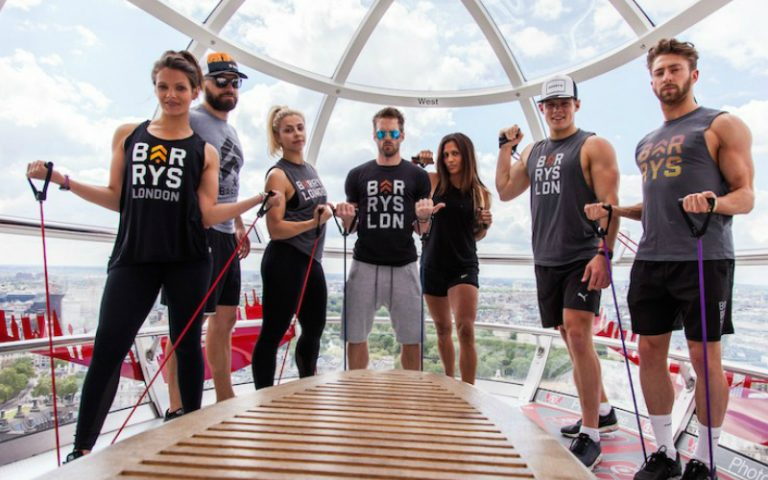 barry's bootcamp x the london eye | london on the inside