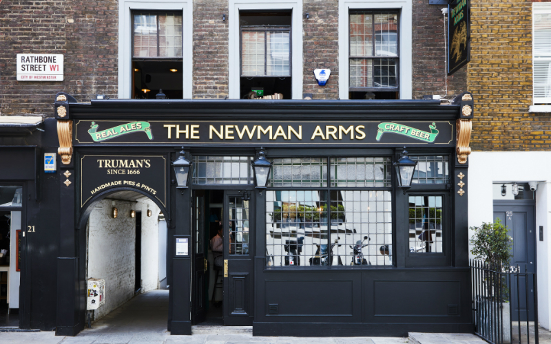 the newman arms | london on the inside