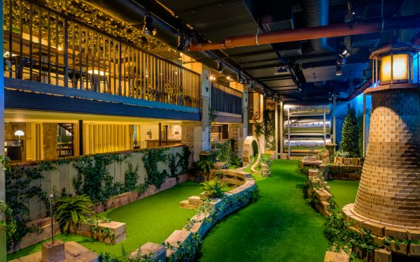 free crazy golf at swingers