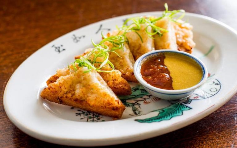 Shrimp toast at Kings County Imperial