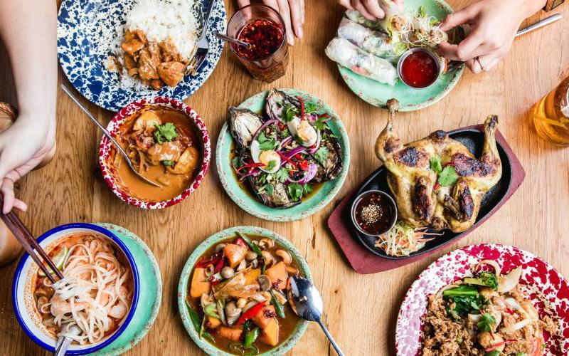 food at rosa's thai cafe