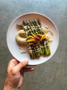 Asparagus at Silver Lining Hackney