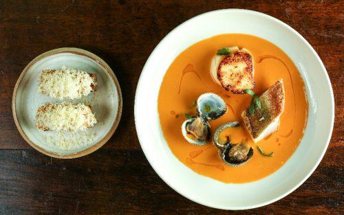 fish soup at cora pearl