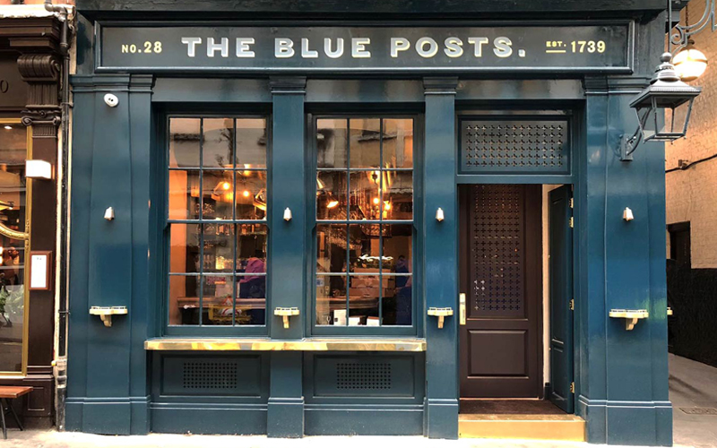 The Blue Post pub in Soho