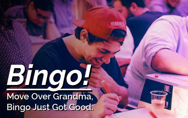 A guy playing bingo
