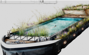 A FLOATING LIDO COULD BE COMING TO CANARY WHARF